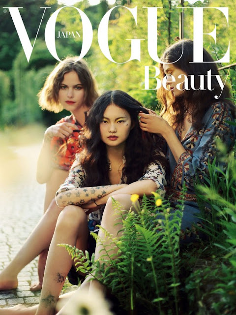 Model @ Alexandra Hochguertel, Diana Moldovan & He Cong by Alexandra Sophie for Vogue Japan, August 2015