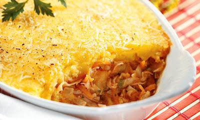 Assado de mandioquinha queijo e peru light