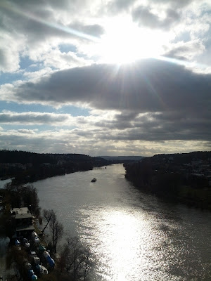 Viewpoint over the Vltava river from Vyšehrad, Prague