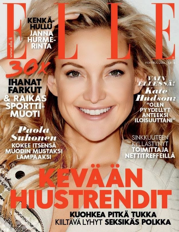 The charmer pages kate hudson for elle magazine finland april 2014