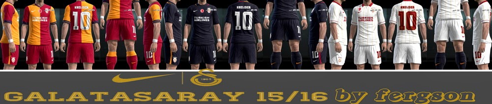 PES 2013 Galatasaray 15/16 Kits by fergson