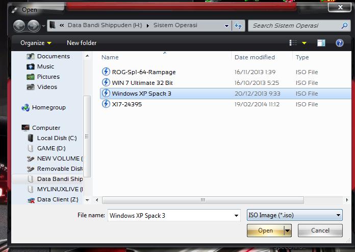 ISO File Yang Ingin Di Install