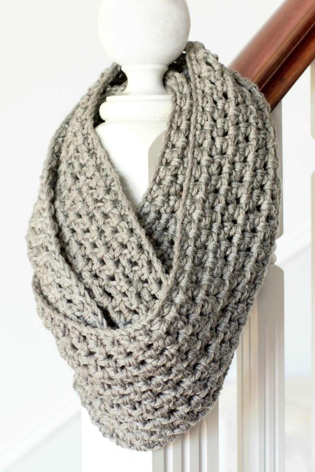 Crochet Scarf Pattern With Pictures : Hopeful Honey Craft, Crochet, Create: Basic Chunky ...
