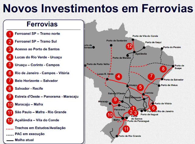 Plano de investimento em ferrovias