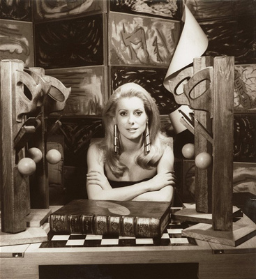 Catherine Deneuve, 1968 by Man Ray