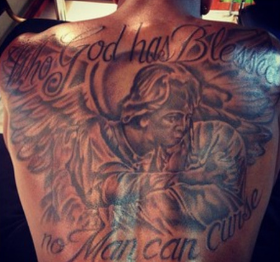 Tristan thompson khloe tattoo new back ink for Tristan thompson tattoo