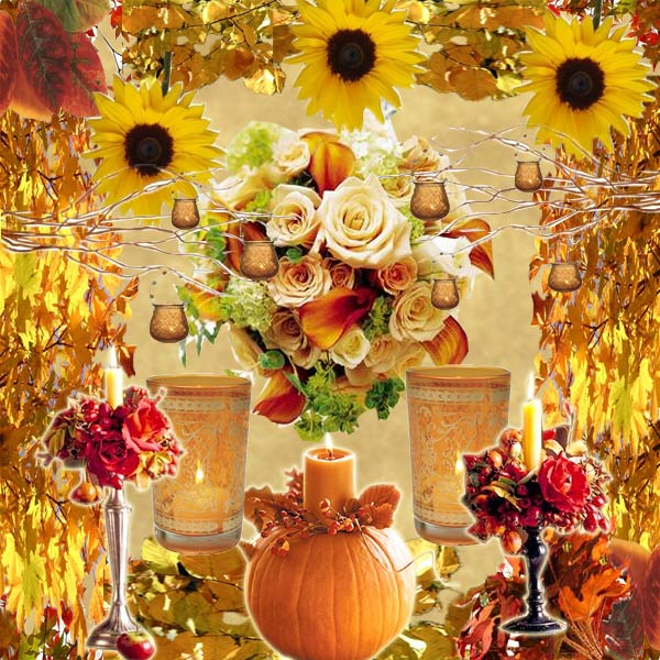 Fall wedding a wedding for adding a season s effect for Autumn wedding decoration