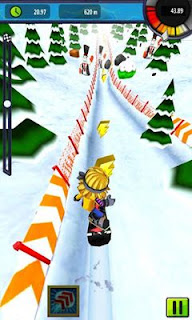 Screenshots of the Snow Racer Friends for Android tablet, phone.