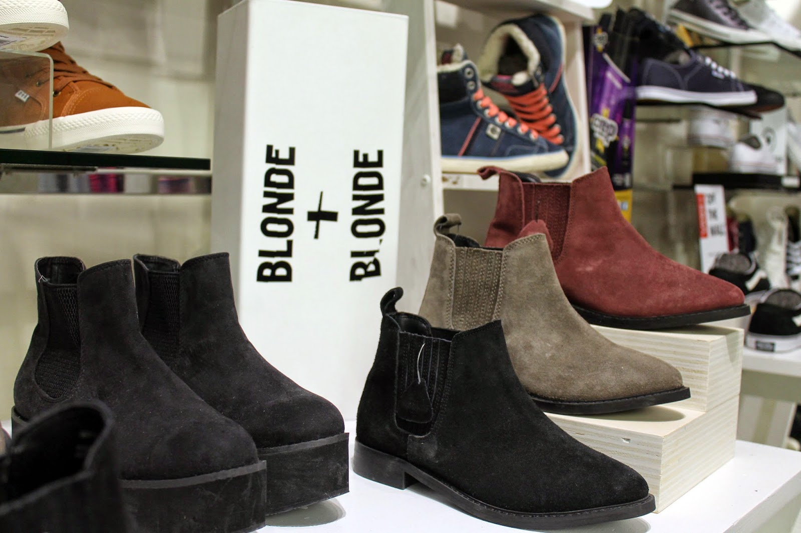 BANK fashion warrington store blonde and blonde ankle boots AW14