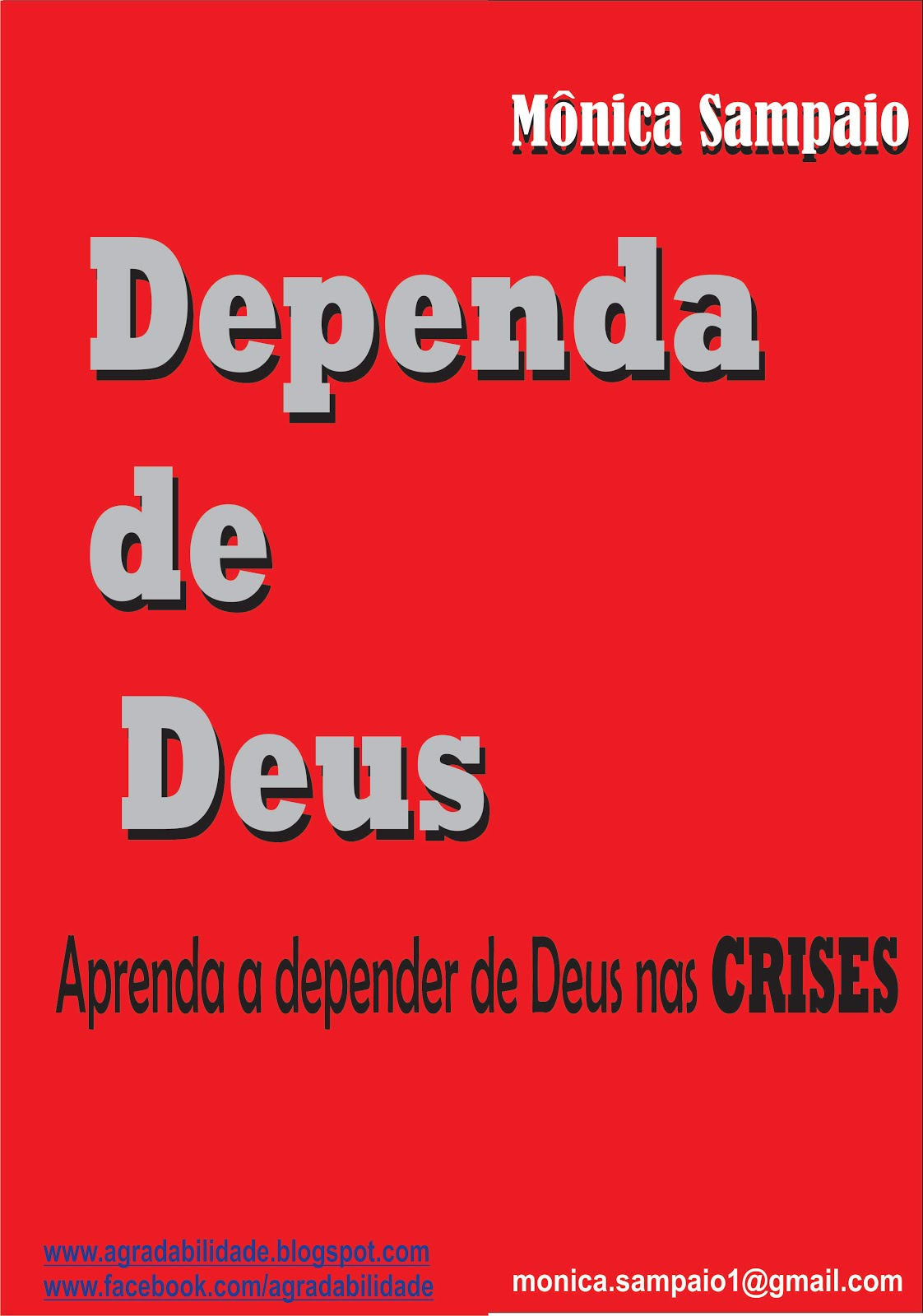 E-book DEPENDA DE DEUS - Mônica Sampaio