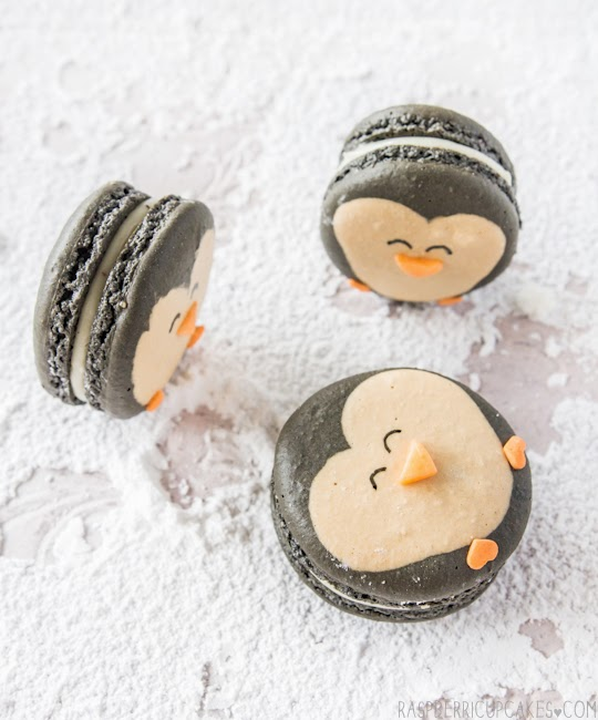 I love Kawaii: Penguin Macarons with Eggnog Ganache