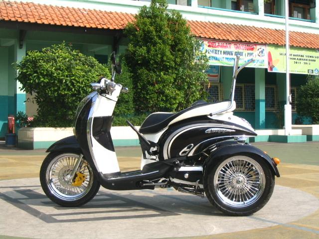 Top modifikasi motor matic roda 3