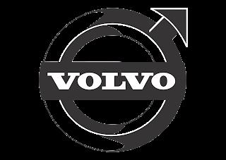 Volvo (Design Black White) Logo Vector download free