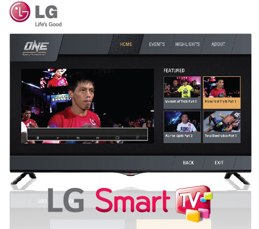 ONE Fighting Championship in LG Smart TVs