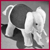 Elefante clasico amigurumi