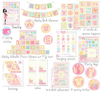 Complete Customized Baby Shower Pastel Party Printables