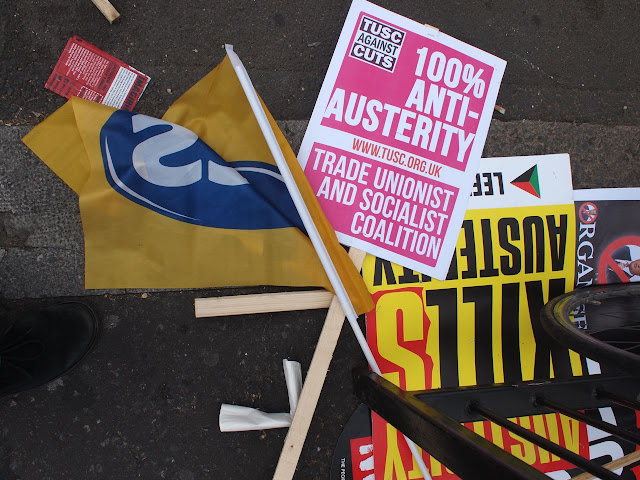 20/06/15 Anti-austerity march , Parliament Square, London
