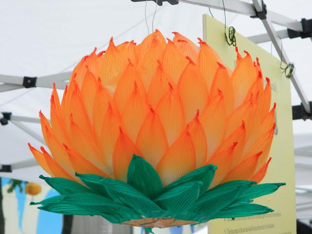 orange lotus lantern