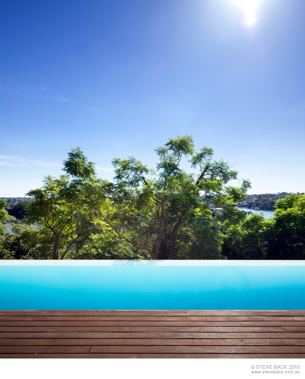 View from the swimming pool of River House by MCK Architects