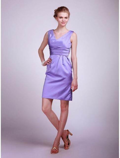 v-neck bridesmaid dress