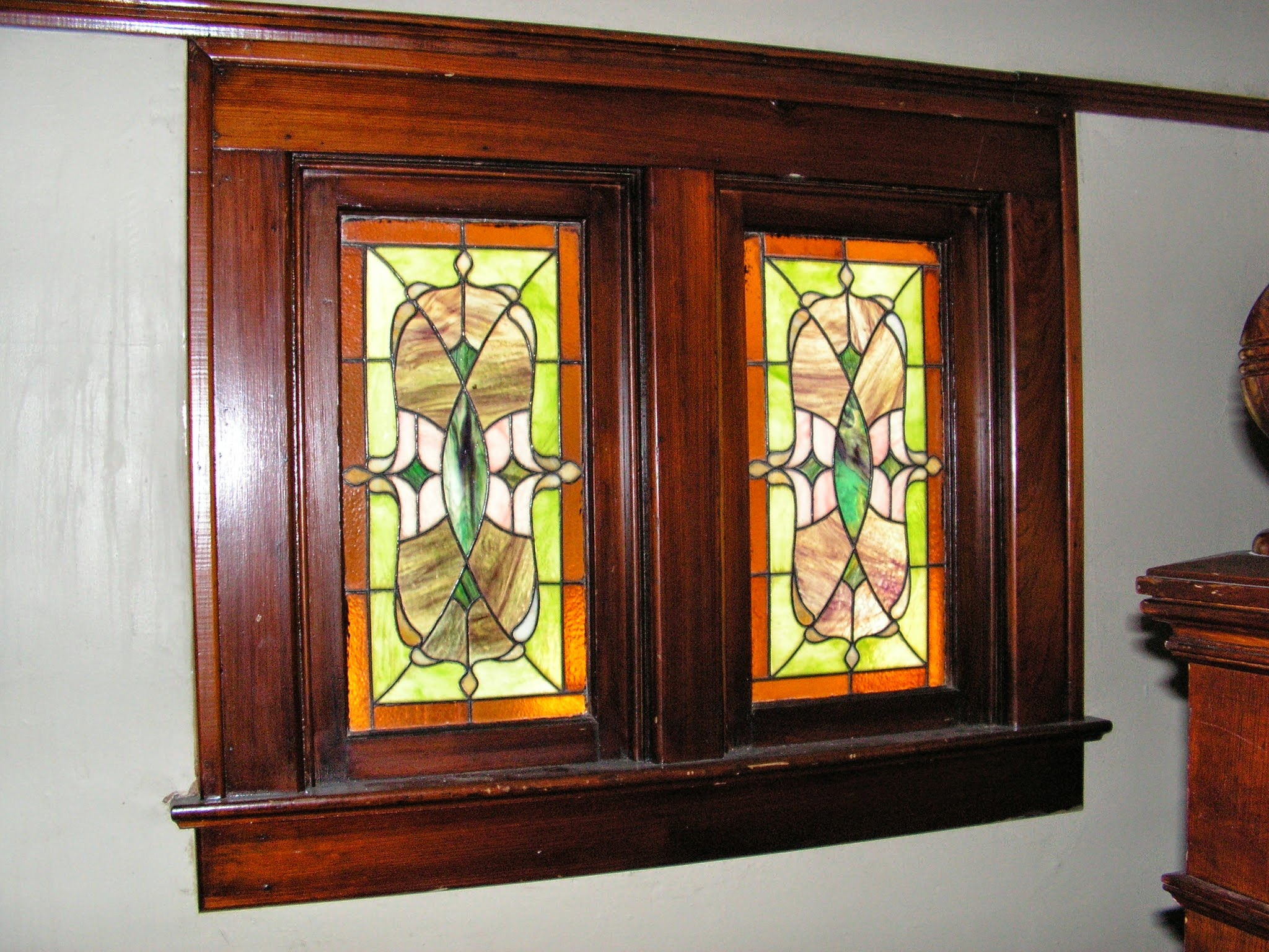 1900 Victorian Home Restoration Stained Glass Windows