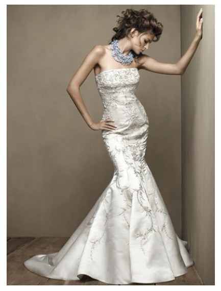 Mermaid Style Wedding Dresses With Color : Beautiful colored mermaid wedding gowns have your dream