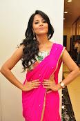 Anasuya dazzling saree photos-thumbnail-5