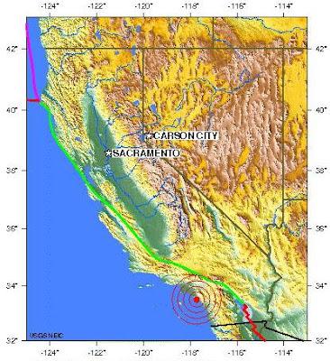 los angeles, california earthquake 2012 april 23