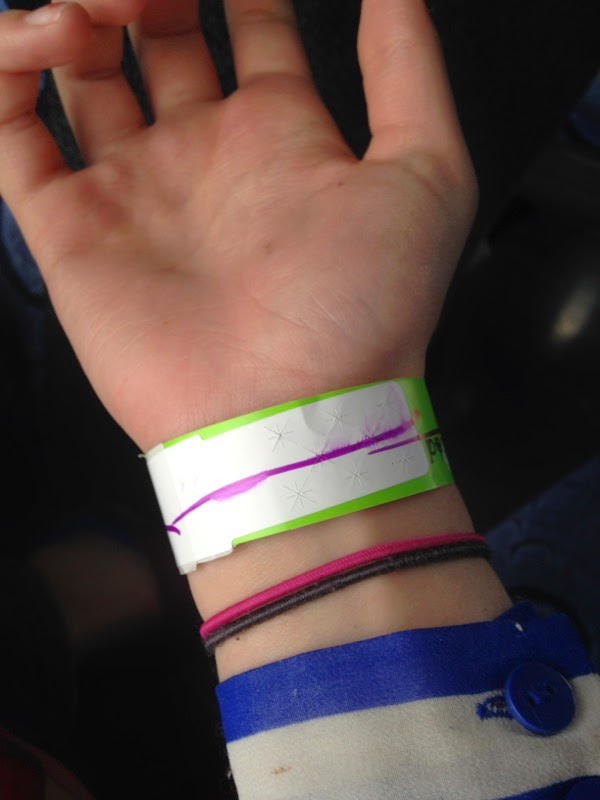 boondocks, go carts, wrist band, mark