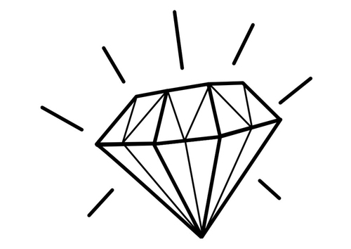 Free diamond coloring pages for Diamond coloring page