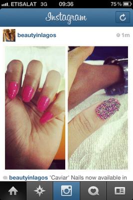 Caviar Manicure @ Wow! Nails