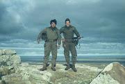 Conscriptos de la IMARA en Tumbledown, el de la derecha armado con un .