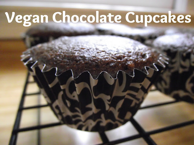 vegan+chocolate+cupcakes Vegan Chocolate Cupcakes