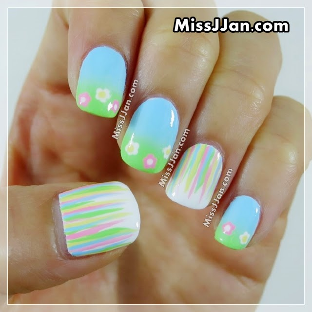 Missjjans Beauty Blog Spring Flowers Nail Art Tutorial
