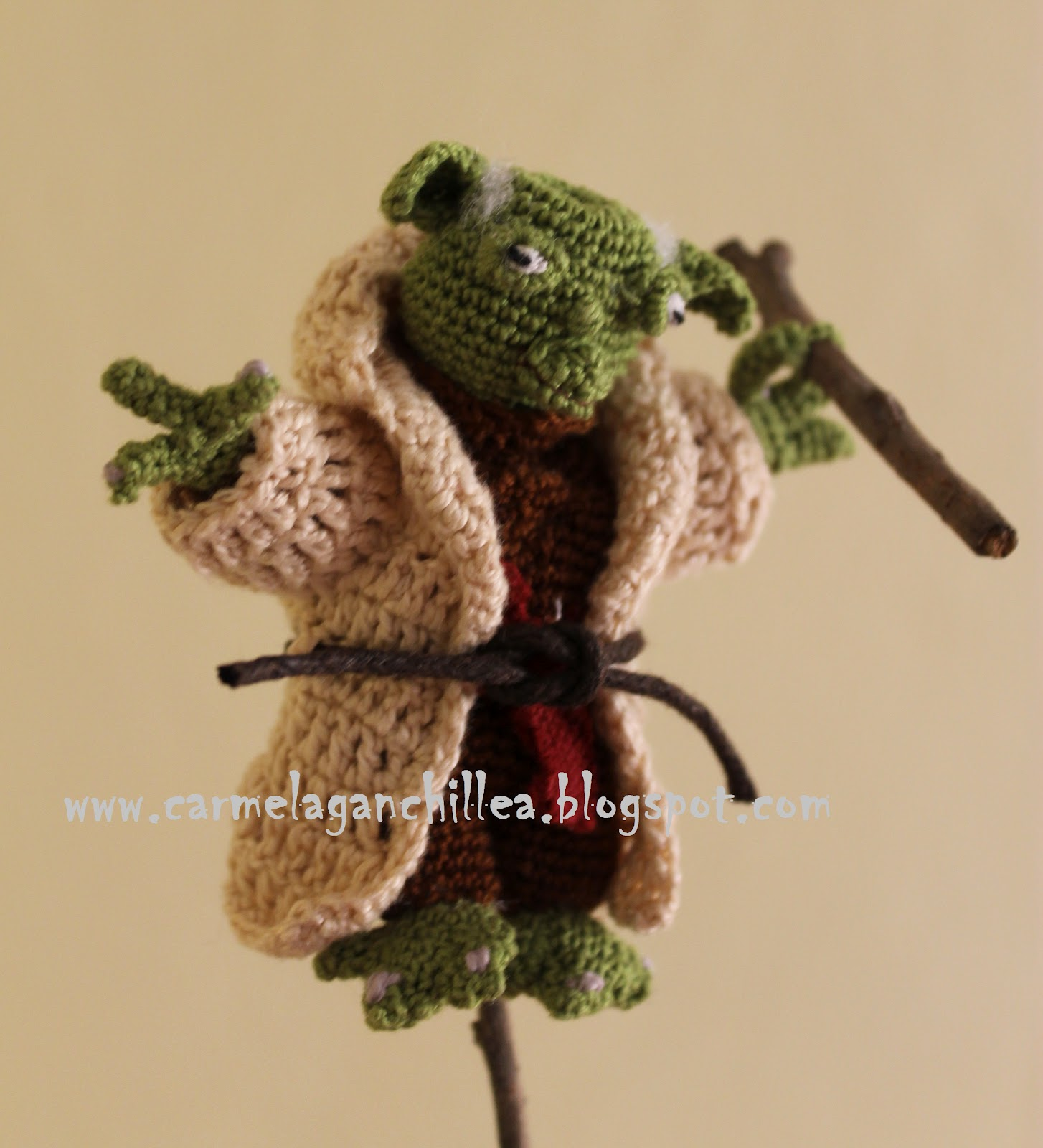 Free Amigurumi Snowman Crochet Patterns : Carmela Ganchillea: Amigurumi Yoda (Star Wars)