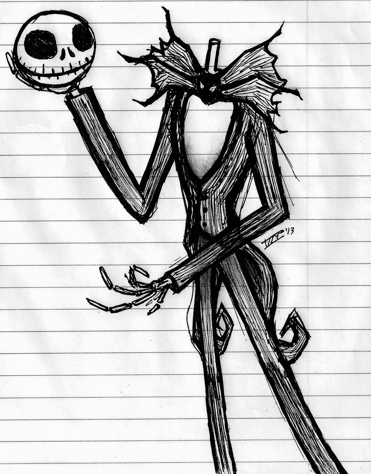 Art by Izzy Buchholz Tim Burton Inspired Art