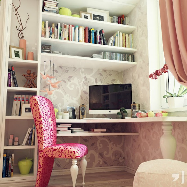 Decorating Ideas # DORMITORIO FEMENINO Y CHIC ROSA VERDE MANZA