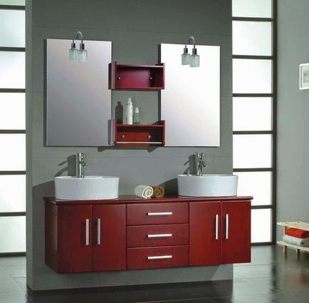 Muebles colgantes para el baño