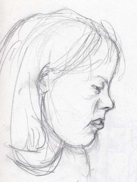 pencil portrait of a girl