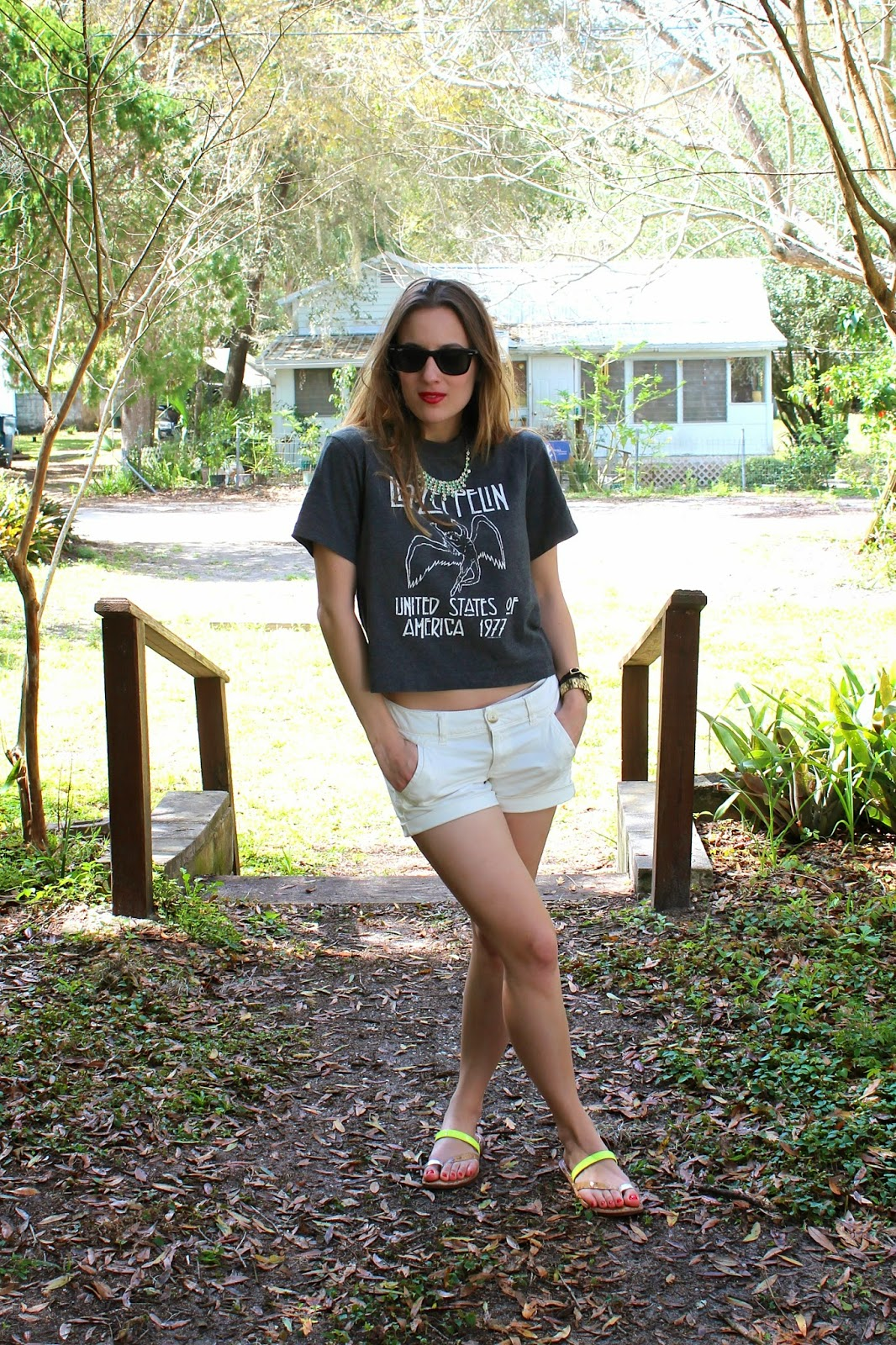 Cassadaga, travel, edgy, Led Zeppelin, graphic tee, ootd