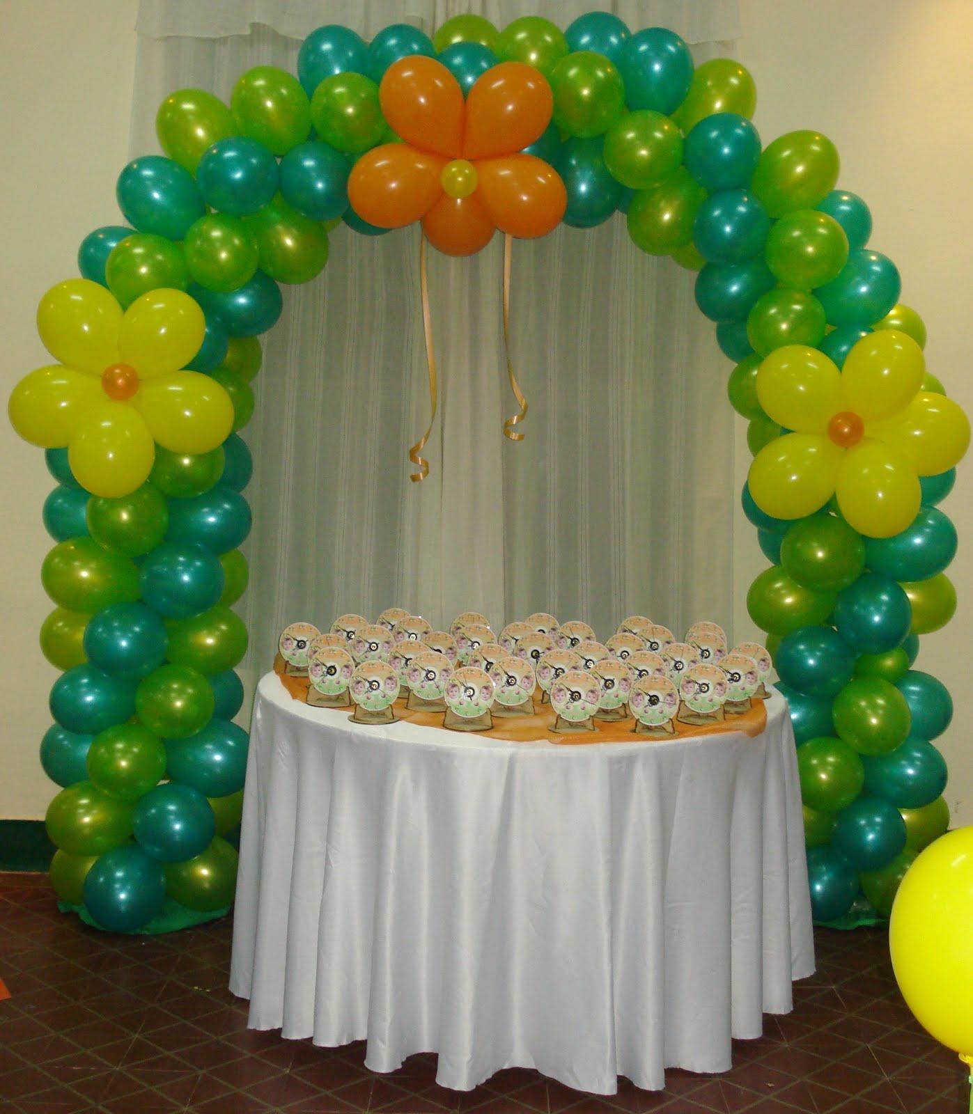 Decoraciones geny se hace toda clase de decoraciones en - Decoracion de globos ...