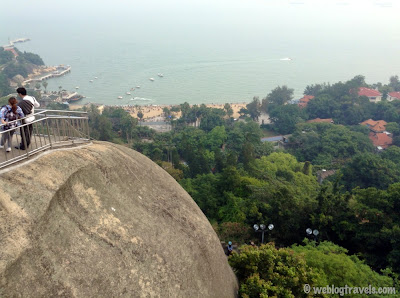 view from sunlight rock, gulangyu island