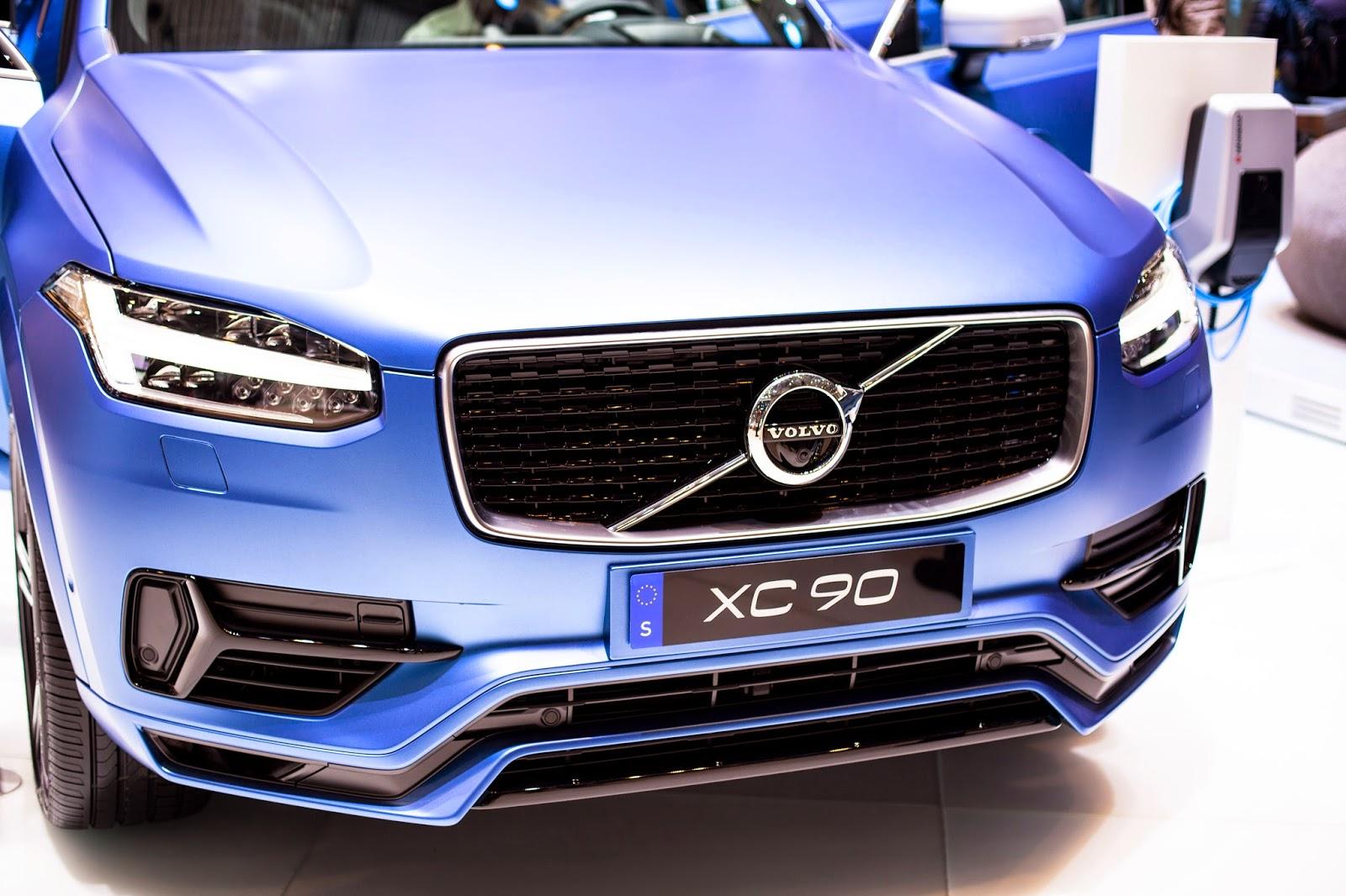 вольво xc 90 синяя