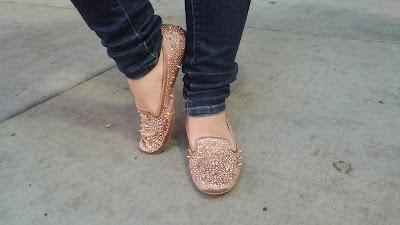 Pink Sam Edelman Spike Loafers