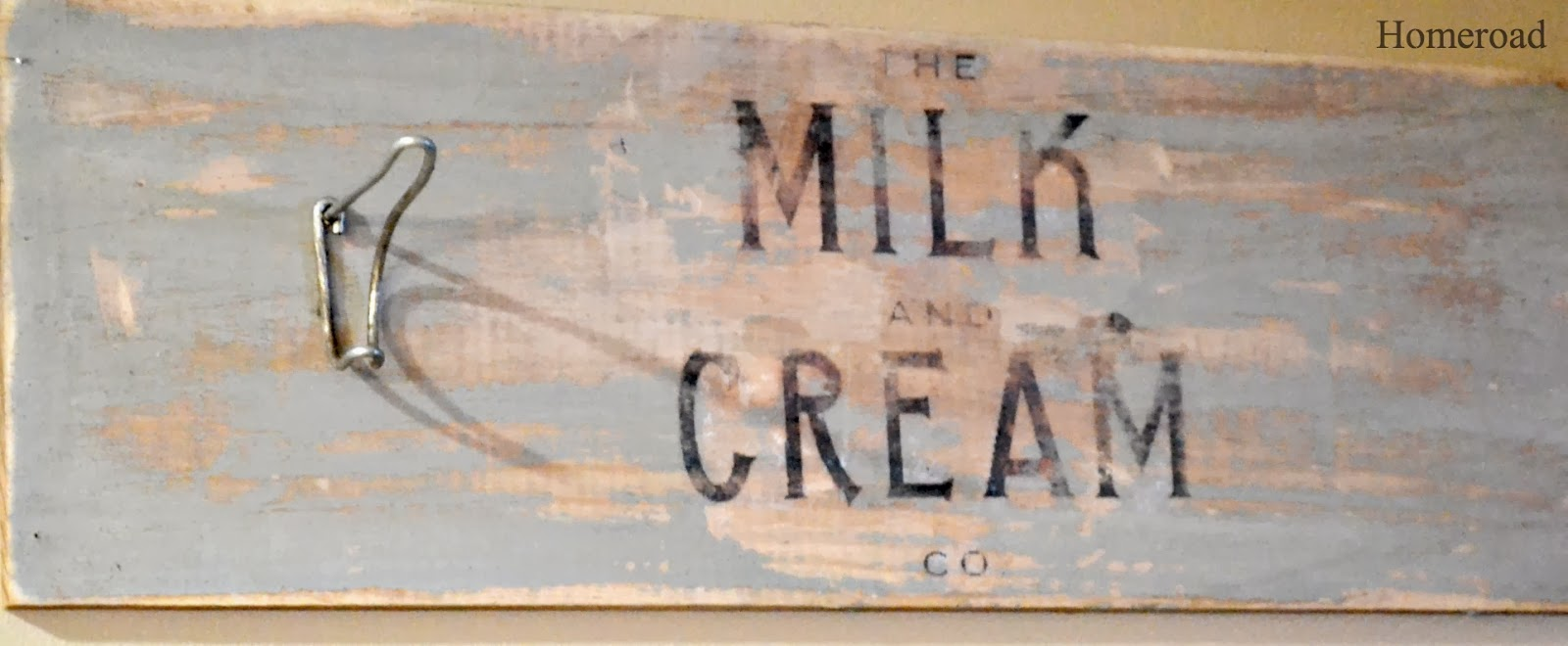 milk and cream crate sign www.homeroad.net