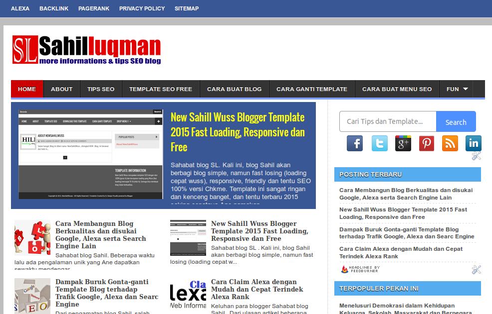 Featured post pada blog SL