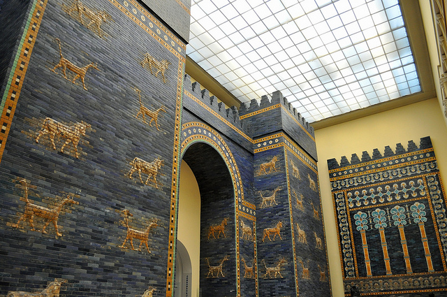 Ishtar Gate of Babylon in Pergamon Museum Berlin
