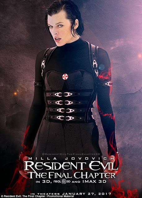 Resident Evil: The Final Chapter+ Milla Jovovich+Lee Jun Ki