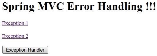 Spring MVC Error Handling