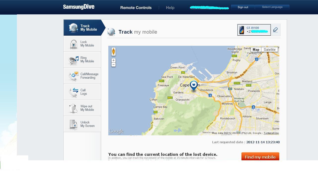 Controla tu smartphone samsung a distancia underc0de hacking y seguridad inform tica - Samsung dive mobile tracker ...